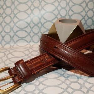 Men's Ralph Lauren Brown Leather Belt
